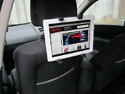 Black Interior Car Tilt And Rotate Ipad, Dvd And Tablet Headrest Mount Stand Holder