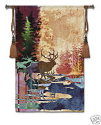 Ghosts Of The Tall Timber Animal Tapestry Wallhanging Elk Picture 36x52