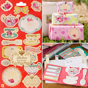 Floral Stationery Retro Flower Note Greeting Card Tag Bookmark Craft Scrapbook