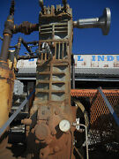 15 Hp Single Piston Compressor - No Tag . Included Steel Skid And Motor