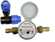 Single-jet Cold Water Meter 3/4 Bsp 20mm With Mdpe Fittings Home Industry