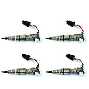 New Oem Ford 6.0l 4 Fuel Injectors - Remanufactured Powerstroke Diesel Four Pcs
