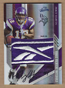 09 2009 Absolute Rpm Percy Harvin Reebok Logo Jsy Patch Auto Rc And039d 1/1 1 Of 1