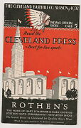 1932 Cleveland Indians-yankees Program Yanks Win Two Of Three