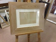 Modern 100mm Flat Limed Solid Oak Photograph/picture Frame With Picture Mount
