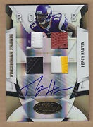 09 2009 Certified Mirror Gold Percy Harvin 3c Jsy Patch Shoe Fb Auto Rc 'd 1/10