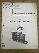 Onan Operatorand039s Manual For Dyd Series Electric Generating Sets Begin Spec H