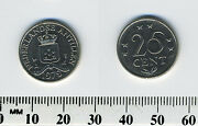 Netherlands Antilles 1979 - 25 Cents Nickel Coin - Crowned Shield