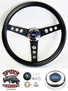1978-1991 Ford Pickup Steering Wheel Blue Oval 13 1/2 Classic Black