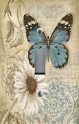 Light Switch Plate Switchplate And Outlet Covers Butterfly Daisies Floral