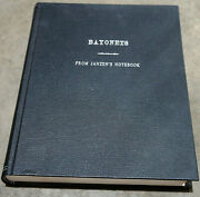Bayonets From Janzenand039s Notebook Signed New Rare Hardbound 1987 First Edition