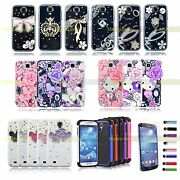 For Samsung Galaxy S4 Hybrid Case Luxury Crystal Design Diamond Cover Free Gifts