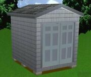 8x10 Storage Shed Plans Package, Blueprints, Material List And Instructions