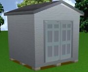 10x10 Storage Shed Plans Package, Blueprints, Material List And Instructions