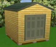 10x12 Storage Shed Plans Package, Blueprints, Material List And Instructions