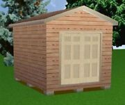 10x14 Storage Shed Plans Package, Blueprints, Material List And Instructions