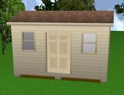 10x16 Storage Shed Plans Package, Blueprints, Material List And Instructions