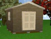 12x12 Storage Shed Plans Package, Blueprints, Material List And Instructions