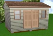 12x16 Storage Shed Plans Package, Blueprints, Material List And Instructions