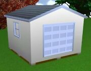 14x14 Storage Shed Plans Package, Blueprints, Material List And Instructions