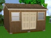 14x16 Storage Shed Plans Package, Blueprints, Material List And Instructions