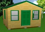 16x16 Storage Shed Plans Package, Blueprints, Material List And Instructions