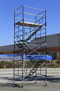 Scaffold Stairway Case Rolling Tower 5and039 X 7and039 X 16and0397 To 17and039 7 Deck High Cbm1290