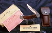 Schrade Lb5 Lockback Knife And Sheath Uncle Henry Usa Made W/packaging Paperwork