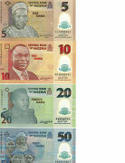 Nigeria 4 Notes Unc. 510 20 And 50 Naira Polymer Notes
