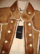 Stunning Sold Out Nwt Dolce And Gabbana Crop Suede And Shearling Jacket