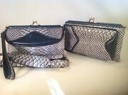 New Gray Black Leather Case Wallet Combo Wristlet Apple Iphone 3g 4 4s