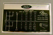Ford 6600's Tractor Gear Change Chart Decal 2 Speed