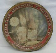 Pre Prohibition Spokane Brewing And Malting Co. Tin Beer Tray