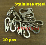10pcs Stainless Steel Quick Link Carabiner Spring Snap Hook Clip Paragliding 1