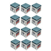 Silver Cup Pool Cue Chalk For Billiards And Snooker Powder Blue 1 Dozen