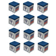Silver Cup Pool Cue Chalk For Billiards And Snooker Royal Blue 1 Dozen