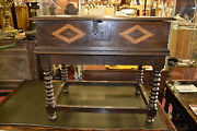 Fine Quality Antique 18th Century Oak Bible Box With Inlay On Later Stand, C1760