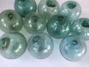 Japanese Glass Fishing Floats - 10 X 3andrdquo No Netting - Authentic Old Japan Balls