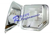 Chrome Th350 Th-350 Turbo 350 Transmission Panand Flex Plate Flywheel Cover Shield