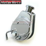 Chrome Power Steering Pump And Cap Saginaw Bolt On Style Sbc Bbc 350 454 Gm A Can