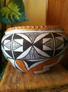 1940and039s-1950and039s Rare Old Collectable Acoma Polychrome Pottery