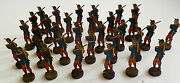 Set Of 32 Russian Antique Soldiers With Rifles And Bayonets - Tin Flats -