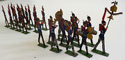 Double Sided - Half Round - Tin Soldiers 15 Rifleman And 12 Man Marching Band