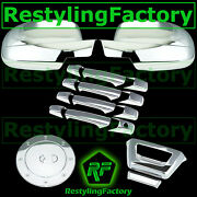 07-14 Chevy Avalanche Chrome Mirror+4 Door Handle+tailgate No Camera+gas Cover