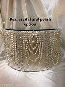 Vintage Pearl And Crystal Cake Stand For Wedding Cakes Gold Or Silver Tone Option