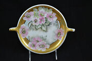 Gda Limoges Two Handled Signed M.d. Fenton Dogwood Thick Gold