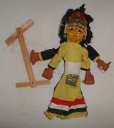 Indian Puppet Show Paper Papier Mache Dolls 2 Masks On One Head Hand Made Doll