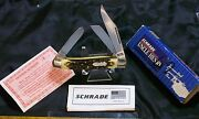 Schrade 885uh Knife Signature Series Uncle Henry W/original Packaging And Papers