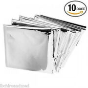 10 Pack Andbull Emergency Solar Blanket Survival Safety Insulating Mylar Thermal Heat