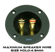 Speaker Box Terminal Round Spring Cup Connector Subwoofer Enclosure Wire Install